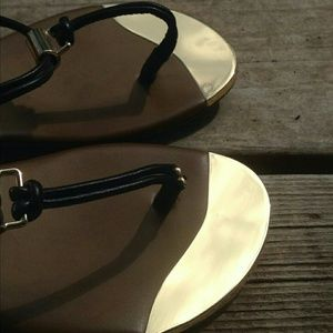 Dolce Vita Gold Tipped Sandals Size 7